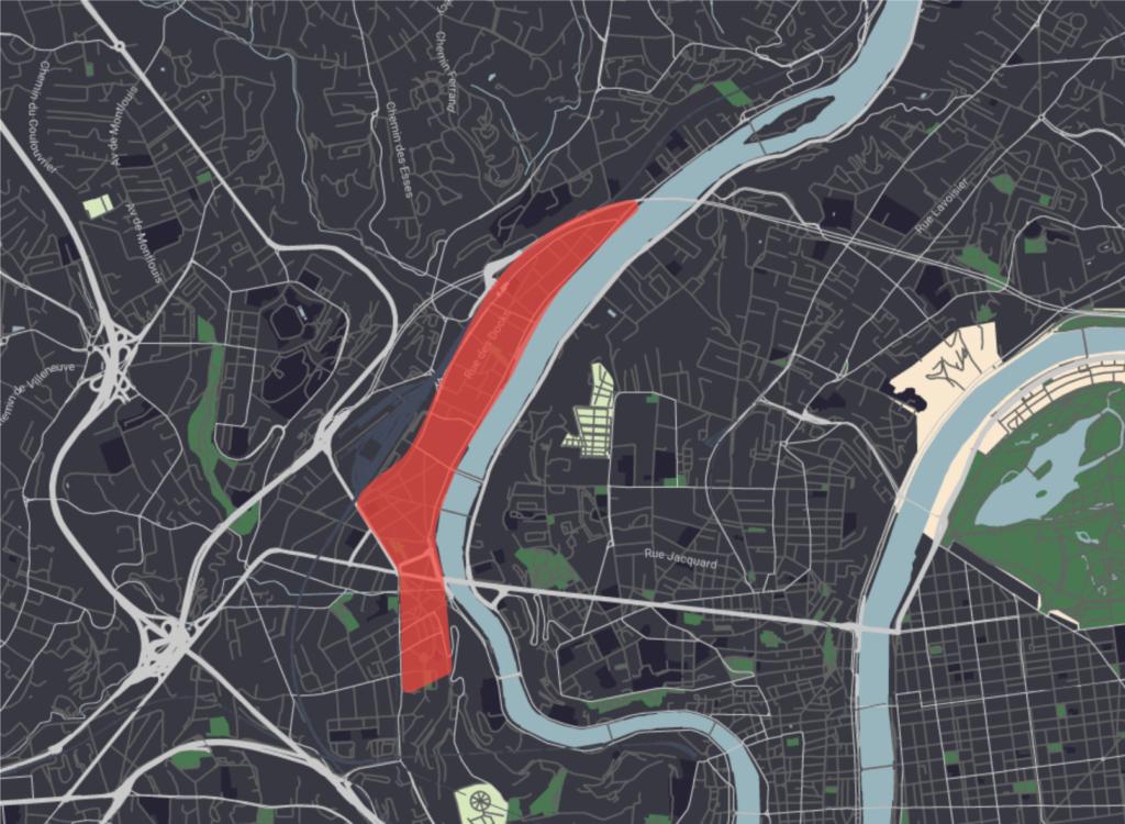 Carte territoire Saône Francisco